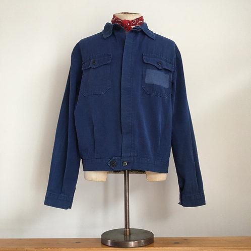 Vintage French Cyclist Bleu de Travail Workwear Jacket M