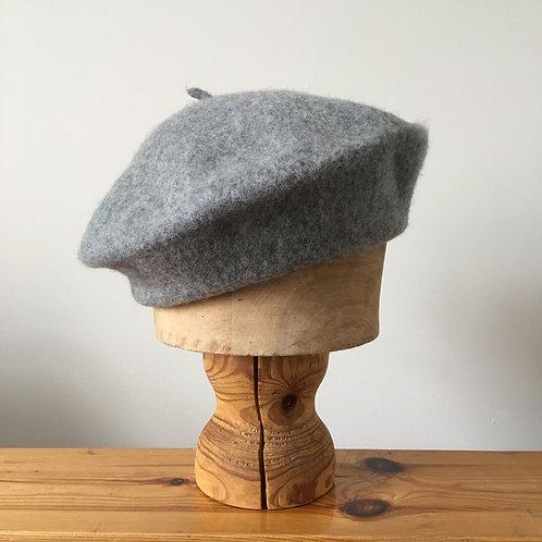 Woolmark 100% Wool Beret Hat/ Pewter Grey