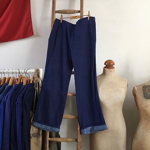 "Vintage Denim Cotton Workwear Trousers W34"""