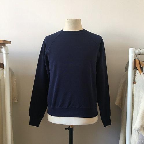Vintage Style Deep Navy Blue Sweatshirt S