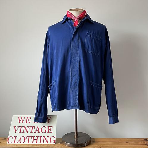 Vintage Vietnamese Cotton Workwear Chore Jacket L