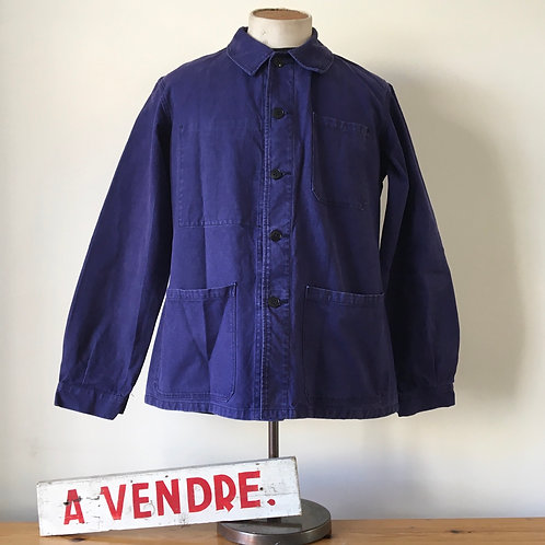 Vintage French 1950s/60s Indigo Chore Jacket S- M/M