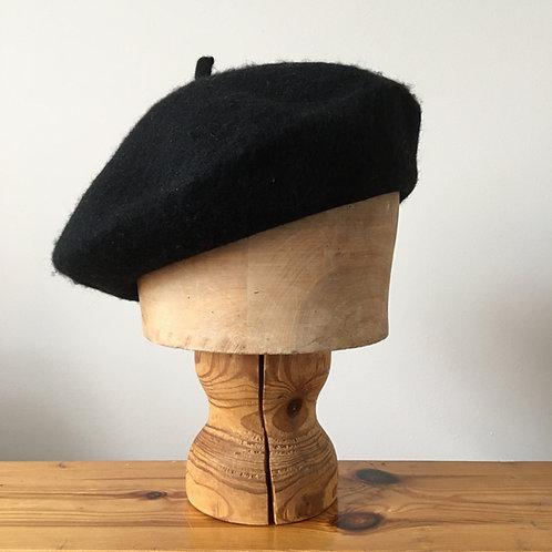 Woolmark 100% Wool Beret Hat/ Jet Black