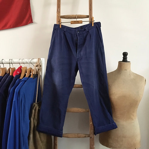 """True Vintage 1960s French Railroad Worker Chore Trousers W32"""""""