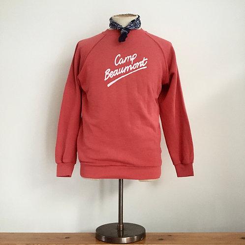 True Vintage 1980s Camp Beaumont USA Sweatshirt S M