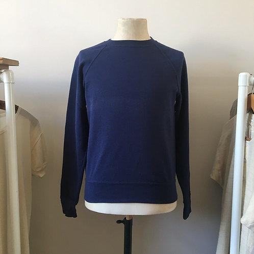 Vintage Style French Blue Sweatshirt S