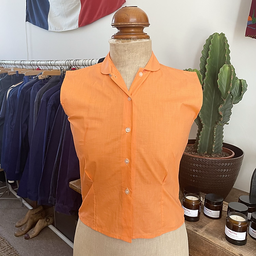 True Vintage 1950s 'Mitre' Cotton Shirt UK6 8 XS