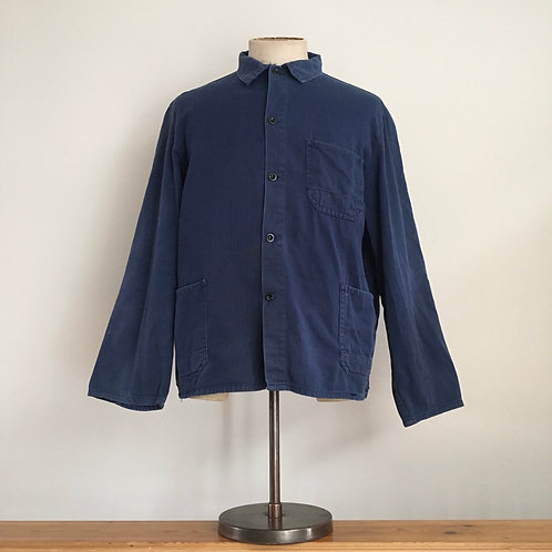 Vintage European Herringbone Cotton Workwear Jacket L