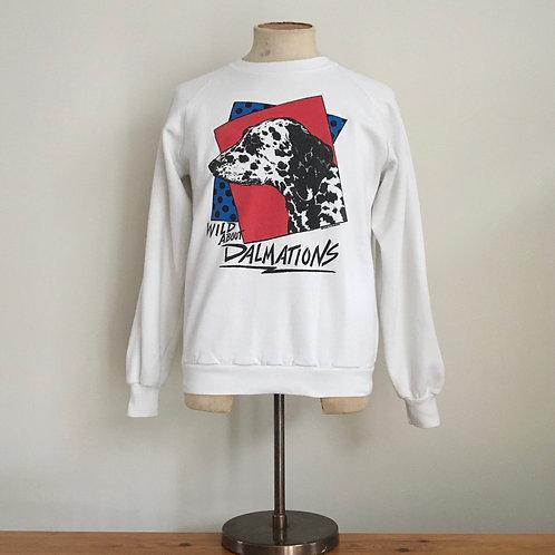 True Vintage 1980s USA Dalmatian Sweatshirt M