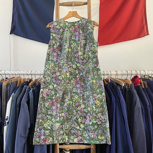 True Vintage 1960s Floral Shift Dress UK12