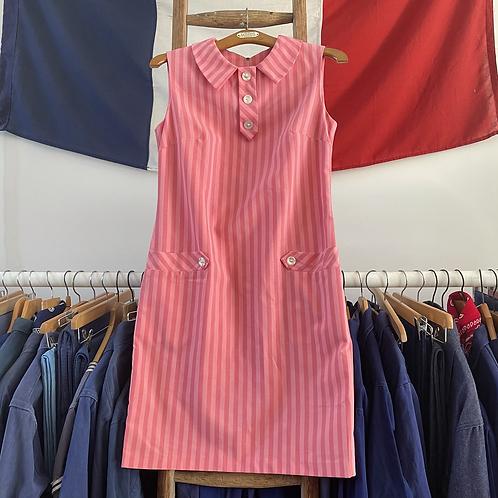 True Vintage 1960s Striped Dress UK8 10 XS/S