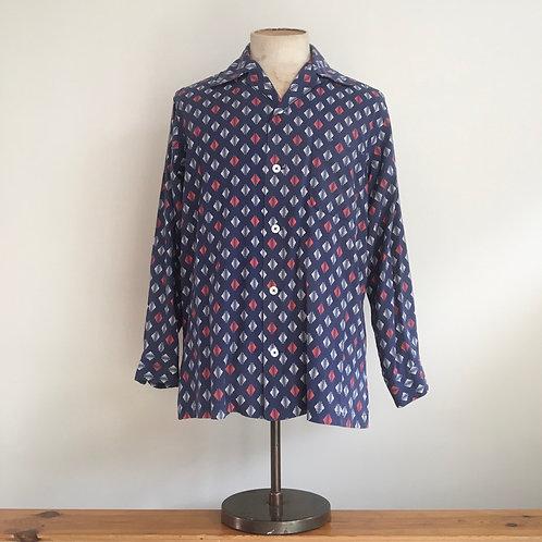 True Vintage 1940s/50s Cotton Print Shirt L