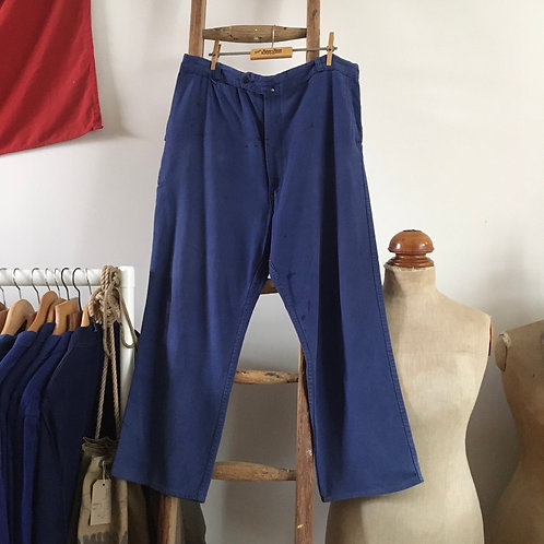 """True Vintage 1960s French Adolphe Lafont Workwear Trousers W38"""" L"""