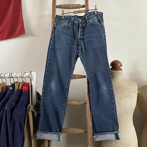 """Vintage Levis 501 Denim Jeans W33"""" L32"""""""