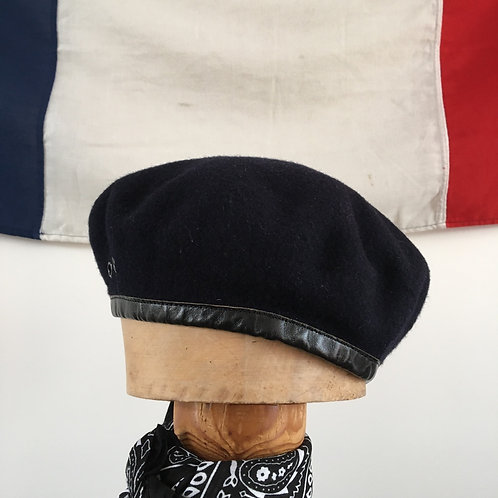 Vintage Navy Wool Military Uniform Beret S- M
