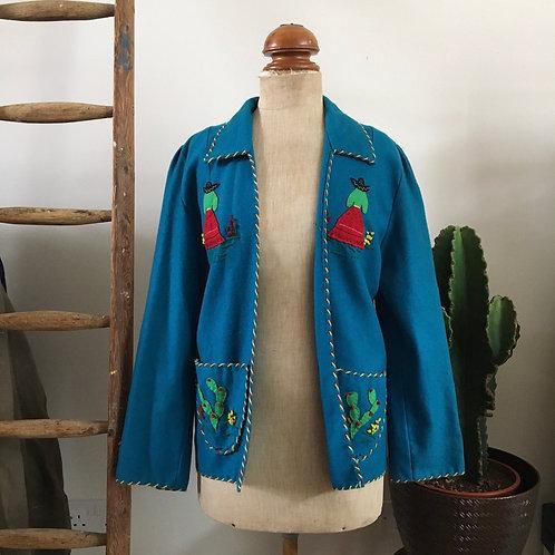 True Vintage 1940s/50s Mexican Garcia Leal Tourist Jacket S M