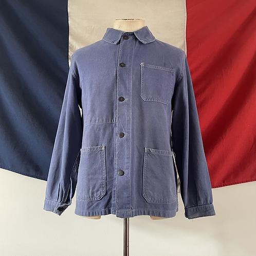 True Vintage 1950s French Le Pelerin Faded Workwear Jacket S- M