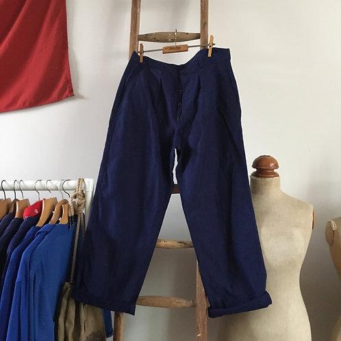 "True Vintage French Workwear Trousers W33"" 34"" M"