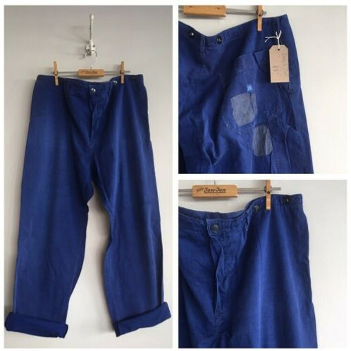 Vintage Cotton Chore Workwear Trousers W38""