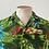 Thumbnail: True Vintage 1960s/70s Hawaiian Rayon Novelty Print Shirt S M