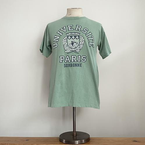 True Vintage 1980s Université Paris Sorbonne Tee- Shirt S- M