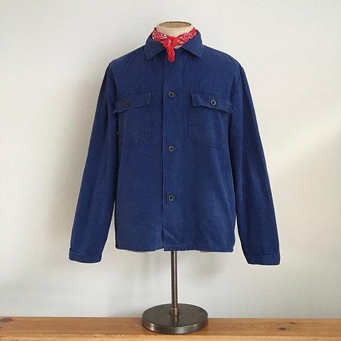 Vintage European Herringbone Cotton Workwear Shirt Jacket M