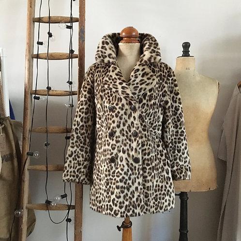 True Vintage 1960s Glenn Model Leopard Print Coat S/S-M