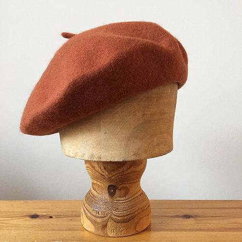 Woolmark 100% Wool Beret Hat / Rust