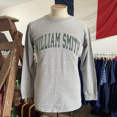 True Vintage USA 1990s William Smith New York College Grey Marl Shirt S M