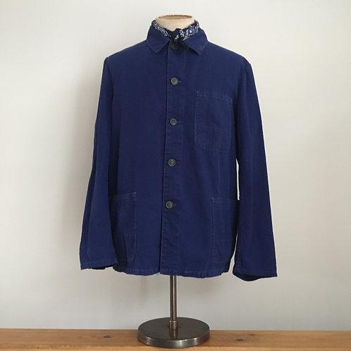 Vintage German Herringbone Cotton Workwear Jacket XL