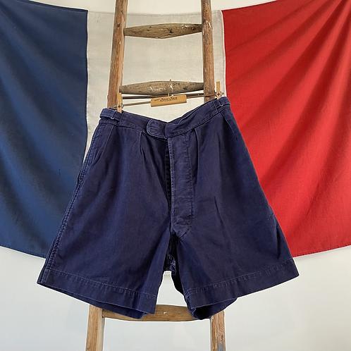"True Vintage Indigo Cotton Military/ Workwear Shorts W28"" 30"""