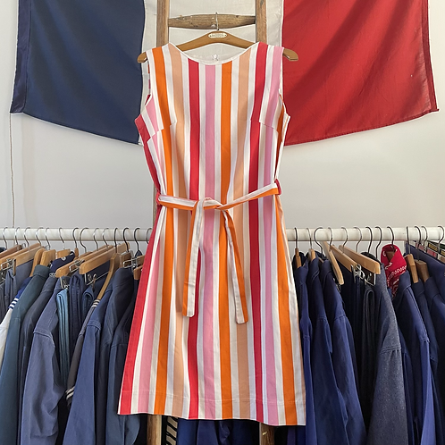 True Vintage 1960s Candy Stripe Dress UK10 12