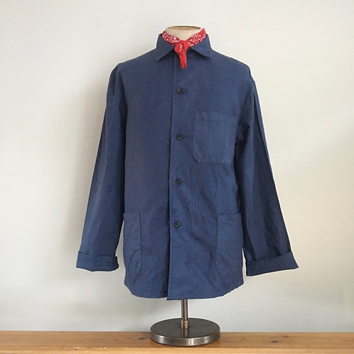 Vintage European Herringbone Cotton Workwear Jacket L/XL