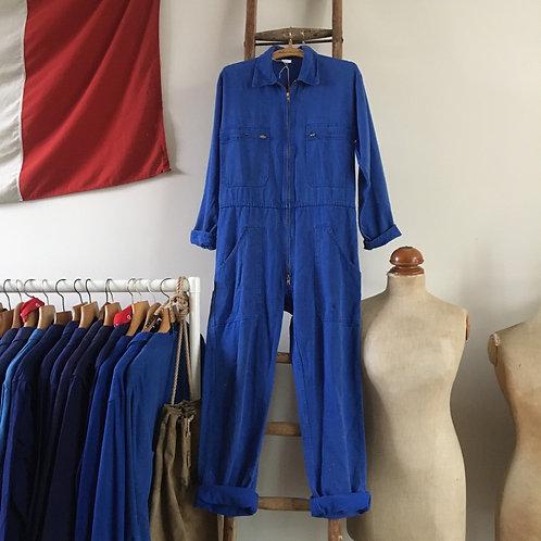 True Vintage French Bleu de Travail Workwear Coveralls S M