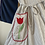 Thumbnail: True Vintage 1950s USA Swirl Striped Ric Rac Cotton Dress UK6 8 10