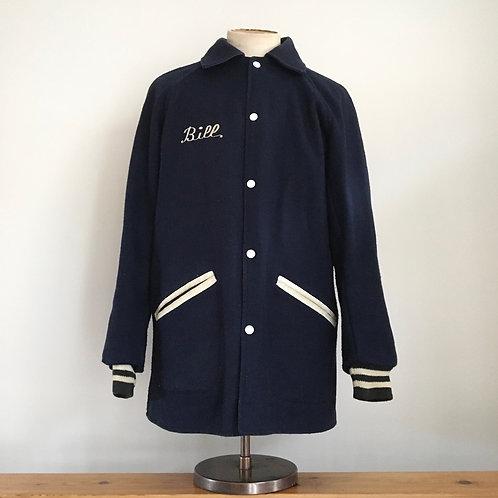 "True Vintage 1950s/60s USA 'Bill' Wool Varsity College Jacket L 42"""