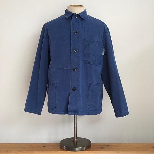 Vintage Pionier German Herringbone Cotton Workwear Chore Jacket L