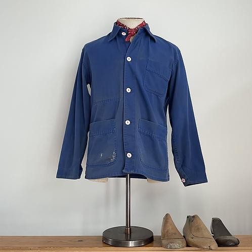 True Vintage Darned Cotton Workwear Jacket S M