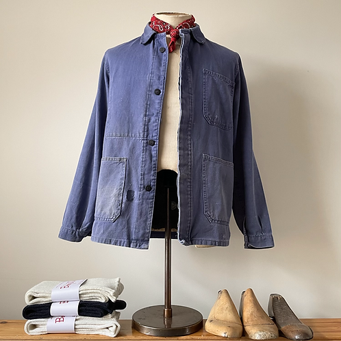 True Vintage French Cotton Workwear Jacket S