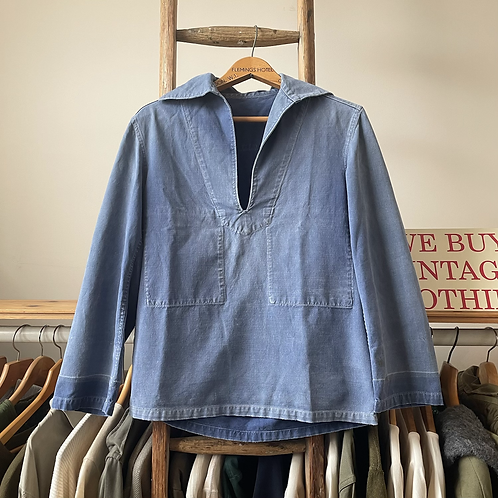 True Vintage French 1940s/50s Faded Workwear Smock XS/S