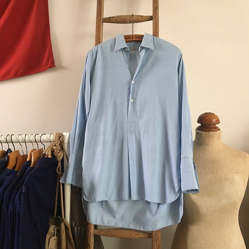 True Vintage French 1940s/50s Cotton Smock Shirt M