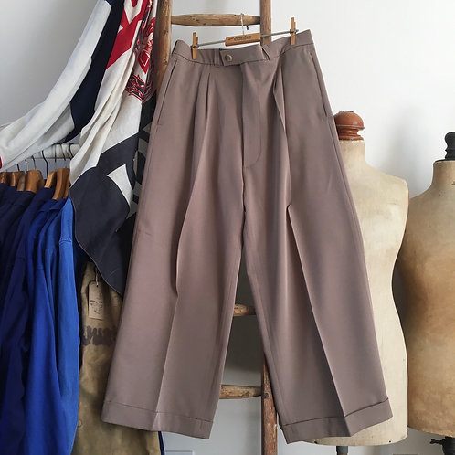 """Vintage 1930s/40s Style Wide- Legged Trousers W34"""" 35"""""""