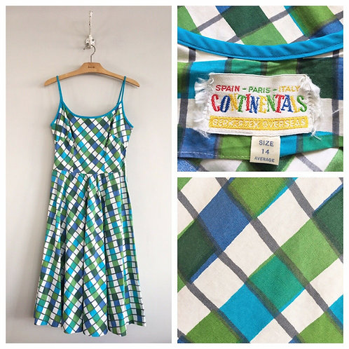 Vintage 1950s Berkertex Continentals Dress W27""