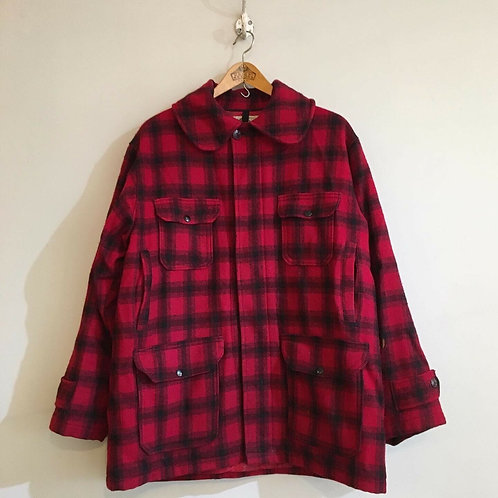 True Vintage USA Woolrich Check Mackinaw Jacket L XL