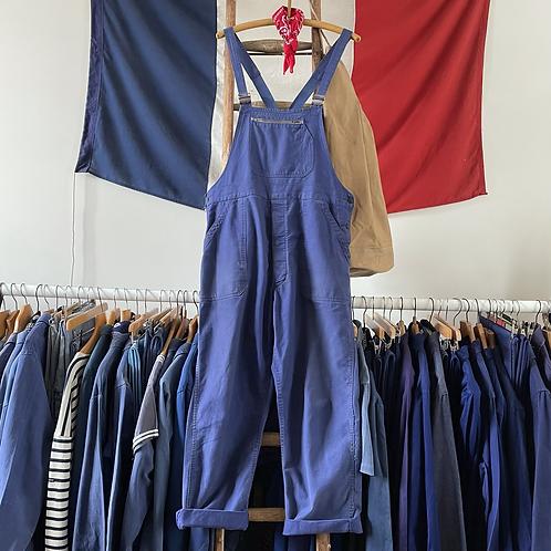 True Vintage 1950s Bleu de Verdun Workwear Dungarees M/ M- L