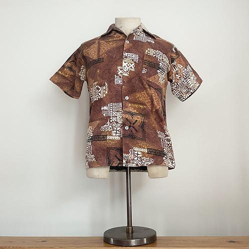 True Vintage 1950s/60s Hawaiian Barkcloth Cotton Shirt S- M