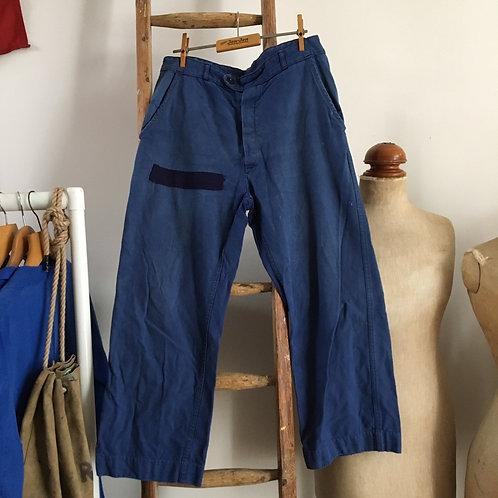 "True Vintage 1960s French Workwear Trousers W32"""