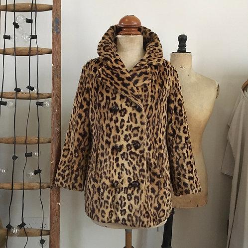 True Vintage 1960s/70s Astraka Leopard Print Coat M
