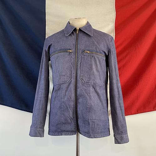 True Vintage 1960s/70s French Denim Workwear Jacket S