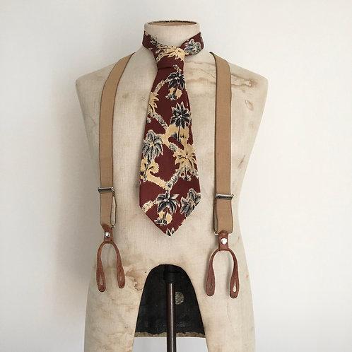 True Vintage 1940s/50s USA Morehouse Martens Silk Neck Tie